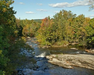 Color Photograph by Lynda Lehmann titled: Androscoggin in Autumn, 2009