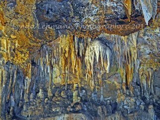 Lynda Lehmann: 'Array of Stone', 2012 Color Photograph, Landscape.  Subterranean rock formations in Luray Caverns, Virginia, look beautiful from any spot or angle, and remind us of Earth's complex and long history.Keywords: old, dank, cave, damp, rock, dark, stone, plate, earth, humid, chasm, luray, moody, scary, lonely, beauty, scenic, nature, cavern, grotto, calcite, passage, mystery, chamber, massive...