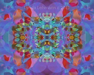 Lynda Lehmann: 'Butterfly Blossoms 7', 2011 Computer Art, Abstract.  A bright, mantra- like, abstract digital fantasy with strong visual appeal. Keywords: abstract, computer, contemporary, texture, tactile, pattern, cool, elegant, decorative, design, decor, digital,