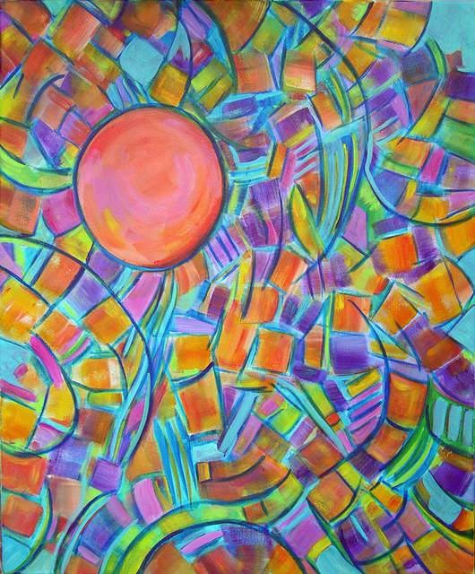 Lynda Lehmann  'Colors Of The Sun', created in 2007, Original Photography Mixed Media.