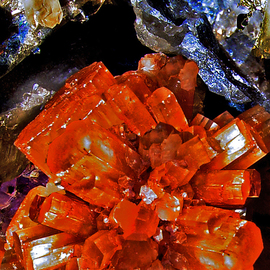 Lynda Lehmann: 'Fire and Ice', 2005 Other Photography, Mystical. Artist Description:  Close- up of minerals in my own collection. Image c Lynda Lehmann.  ...