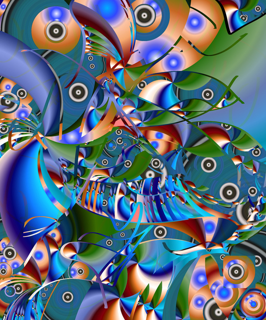 Artist Lynda Lehmann. 'Fish Fiesta 2' Artwork Image, Created in 2007, Original Photography Mixed Media. #art #artist