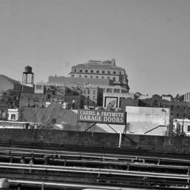 Lynda Lehmann: 'Other Side of the Tracks', 2007 Other Photography, Urban. Artist Description:  The roofs of the city from the vantage point of the railroad tracks.  Image c Lynda Lehmann. ...