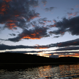 Lynda Lehmann: 'Spiritual Twilight', 2008 Color Photograph, Scenic. Artist Description:  An inspiring and incredibly beautiful sunset, seen from the middle of a lake in southern Maine, near Sebago Lake. Image c Lynda Lehmann. ...
