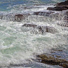 Lynda Lehmann: 'Thunder and Lace', 2012 Color Photograph, Fantasy. Artist Description:  Scenic view of the rugged and dramatic Maine coast at Thunder Hole in Acadia National Park, with waves crashing on the boulders.  Bring the serenity and the awesome power of the sea into your home with this gorgeous view of the waves rolling ashore!  Keywords: sea, flow, tide, ...