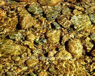Lynda Lehmann: 'Web of Light', 2010 Color Photograph, Beauty. Artist Description:  Ripples of golden sunlight reflected on the river's surface and the colored pebbles beneath it. Archival print 8 x 10, matted ( acid- free) to 11 x 14 inches. Signed on the mat, not on the print. ...