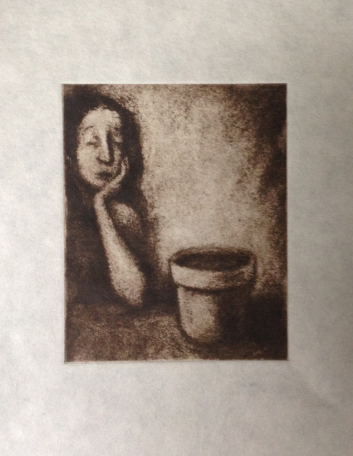 Lynette Vought  'Watched Pot', created in 2015, Original Drawing Charcoal.