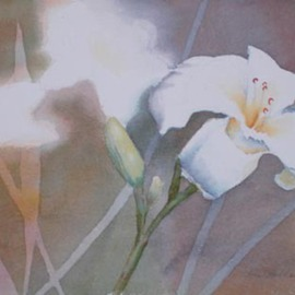 Lynn Millar Artwork Garden Lillies2, 2006 Watercolor, Floral
