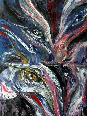 Artist: Lyudmila Kogan - Title: BEING WATCHED IN A DARK - Medium: Oil Painting - Year: 2004