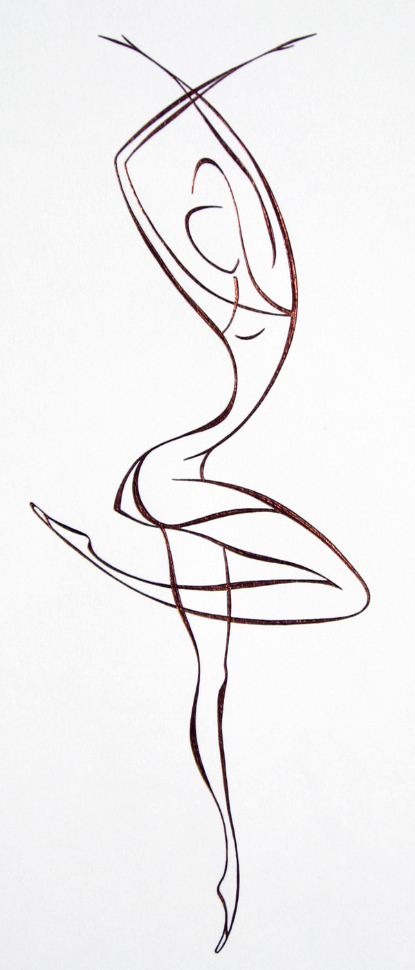 Line Drawing Dancer : Lyudmila kogan artwork ballet dancer original drawing