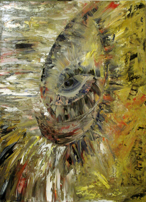 Artist: Lyudmila Kogan - Title: CREATURE OF DARKNESS - Medium: Oil Painting - Year: 2004