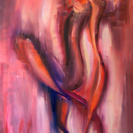 Lyudmila Kogan: 'DANCER', 2007 Oil Painting, Abstract Figurative.