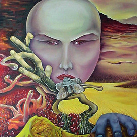 Lyudmila Kogan Artwork FALL, 2006 Oil Painting, Surrealism