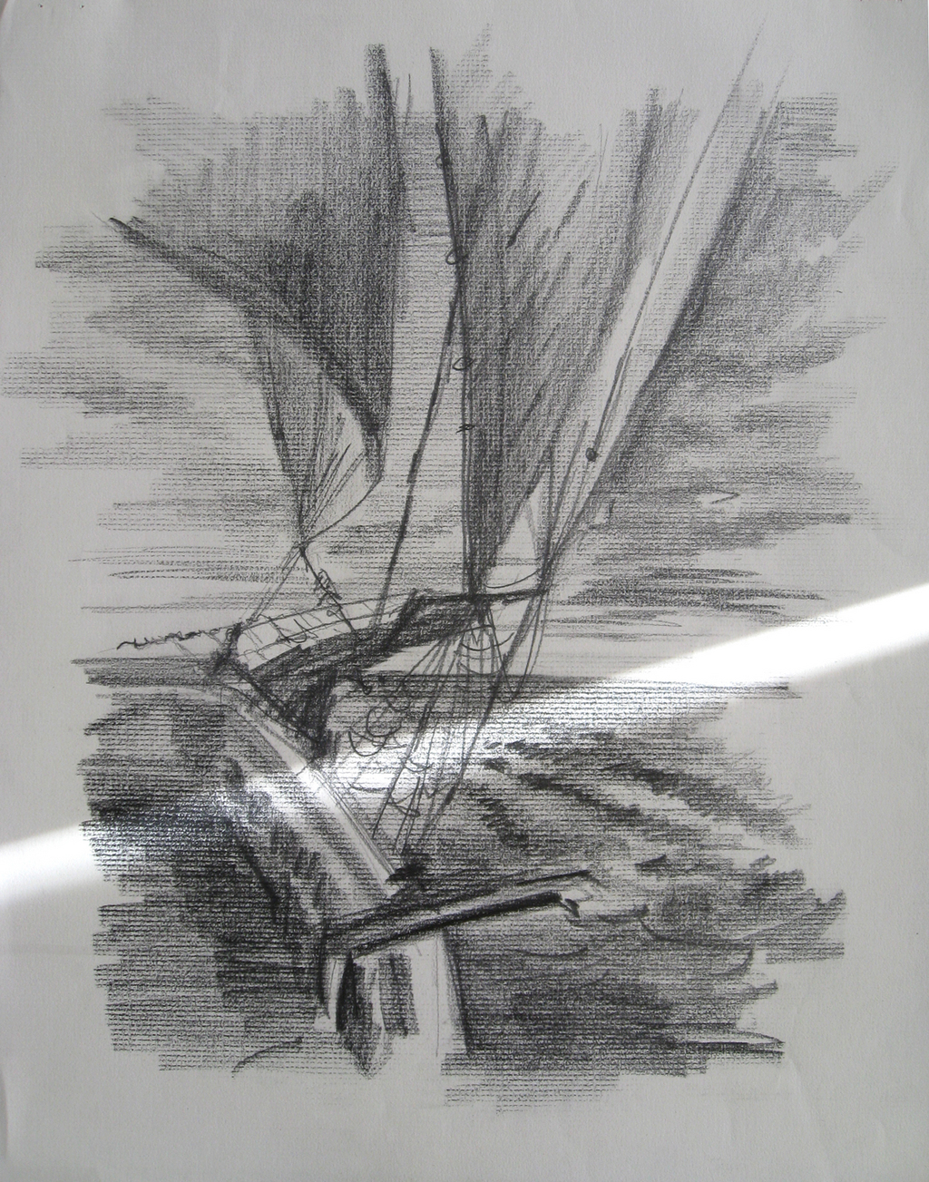 Lyudmila Kogan Artwork: Sail Boat | Original Drawing ...