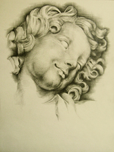 - artwork THE_SERAPH_HEAD-1246347692.jpg - 2009, Drawing Pencil, Figurative