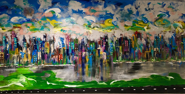 Mac Worthington  '5th Avenue Manhattan', created in 2019, Original Painting Other.