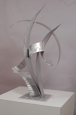 Aluminum Sculpture by Mac Worthington titled: Couple Dancing, 2012
