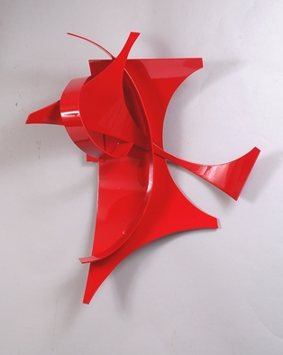Aluminum Sculpture by Mac Worthington titled: Red Incident, created in 2012