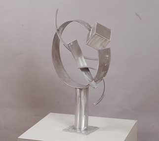 Aluminum Sculpture by Mac Worthington titled: Thought of Escape, created in 2012