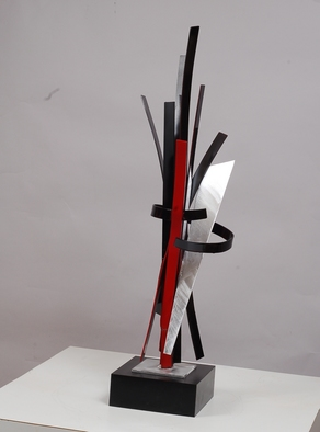 Aluminum Sculpture by Mac Worthington titled: Walking Into The Party, created in 2012