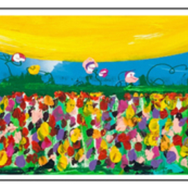 Mac Worthington: 'field of wildflowers', 2020 Acrylic Painting, Floral. Artist Description: Acrylic on stretched canvasAvailable. Signed   dated. Certificate of Authenticity. Ready to hang....
