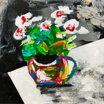 flowers in a teacup By Mac Worthington