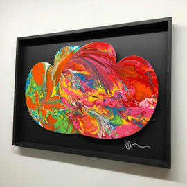 Mac Worthington: 'perfect couple', 2019 Aluminum Sculpture, Abstract Figurative. Artist Description: Perfect Couple hearts are aluminum painted automotive enamel.Signed   dated. Certificate of Authenticity. Ready to hang. ...