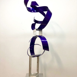 Mac Worthington: 'purple maelstrom', 2020 Aluminum Sculpture, Abstract. Artist Description: Welded aluminum, polished with a machine brush finish painted candy apple purple...