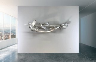 Mac Worthington: 'the chase', 2020 Aluminum Sculpture, Abstract. Acrylic on stretched canvas. Available. Signed   dated. Certificate of Authenticity. Ready to hang.For further information on this piece or to discuss a custom design please call 614 | 582 | 6788 or email: macwartist aol. com	...