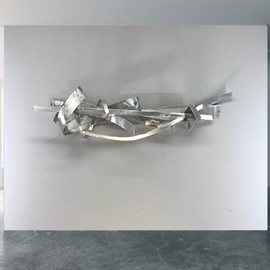 Mac Worthington: 'the chase', 2020 Aluminum Sculpture, Abstract. Artist Description: Acrylic on stretched canvas. Available. Signed   dated. Certificate of Authenticity. Ready to hang.For further information on this piece or to discuss a custom design please call 614 | 582 | 6788 or email: macwartist aol. com	...