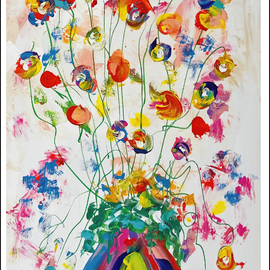 vase of meadow flowers  By Mac Worthington