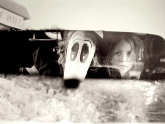 Mary Anne Mitchell: 'Stranger Behind', 2007 Silver Gelatin Photograph, Undecided.