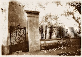 Mary Anne Mitchell: 'pirates courtyard', 2006 Silver Gelatin Photograph, Undecided.