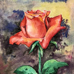 flower in watercolor By Mojtaba A Delavar