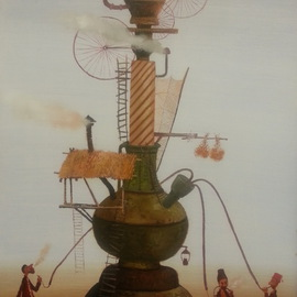 Madina Art Artwork Puff Puff Pass, 2015 Oil Painting, Surrealism