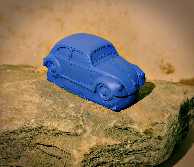 Roland Van Ast  'Born Out Of Rock VW Beetle 1', created in 2020, Original Ceramics Handbuilt.