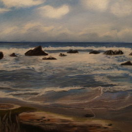 Maggie Bezuhly Artwork Oregon Coast 1, 2005 Pastel, Beach