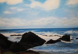Beach Pastel by Maggie Bezuhly Title: Oregon Coast 2, created in 2009