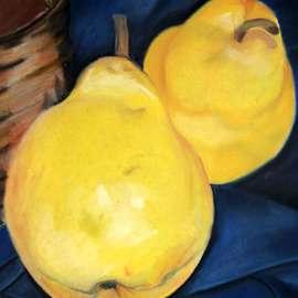 Maggie Bezuhly Artwork Pears, 2009 Pastel, Still Life