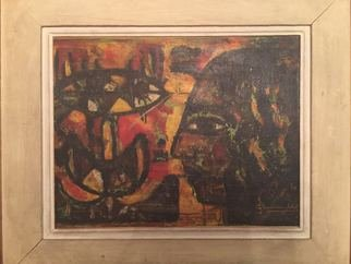 Maha  Hamed Artwork abdelwahaab morsi, 1966 Oil Painting, Ethnic