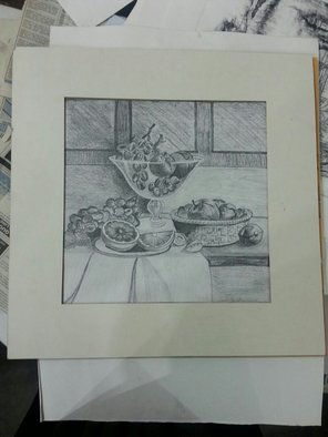 Mah Noor: 'still life', 2017 Paper, Still Life. Artist Description: Awesome fruits basket ...