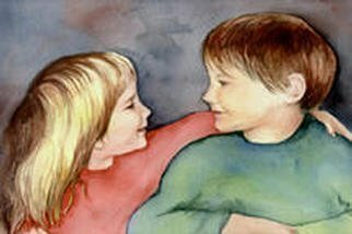 Mary Jean Mailloux: 'Best of Friends', 2003 Watercolor, Children. There is nothing which compares with the unincumbered friendships of childhood. Though painted from a photo, these are children I know well. After many years, they are still good friends. ...