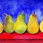 Pears in a Row By Mary Jean Mailloux