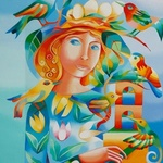 woman with birds By Mairim Perez Roca