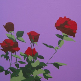 Maja Vidovic: 'roses', 2009 Acrylic Painting, Floral. Artist Description:  Roses are red, secrets are hidden. . .   ...