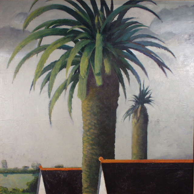 Malcolm Moran  'Palm 2', created in 2000, Original Painting Oil.