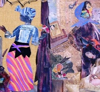 Malke Artwork Algerian Women, 2012 Collage, undecided