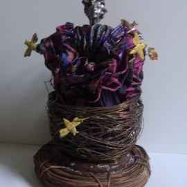 Malke Artwork Bird Woman, 2014 Mixed Media Sculpture, Life