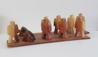 Malke: 'Integration', 2014 Wood Sculpture, Figurative. Artist Description:      Wood               ...