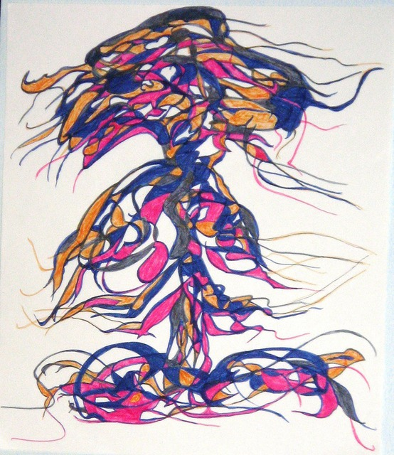 B Malke  'My Fabulous Trees 8', created in 2013, Original Painting Ink.